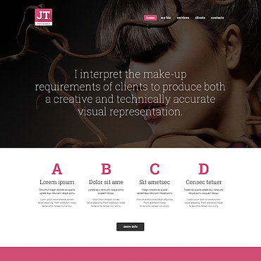 Beauty Responsive Website Template #49333