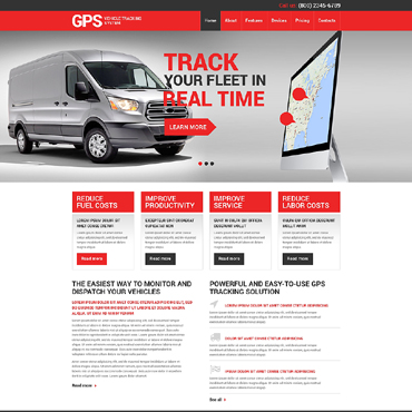 Trucking Responsive Website Template #49381