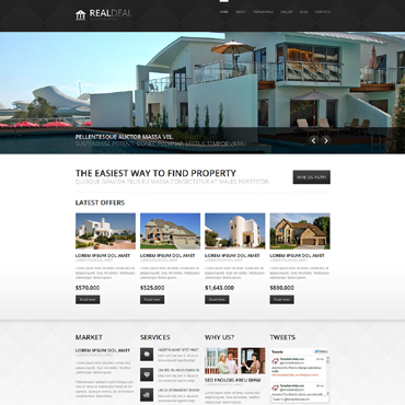 Real Estate Agency Responsive Joomla Template #49393