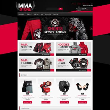 Martial Arts Responsive Magento Theme #49417