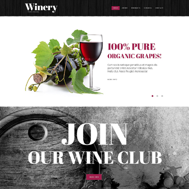 Winery Website Template