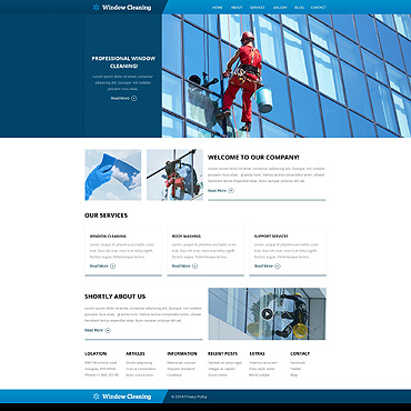 Window Cleaning Responsive Website Template
