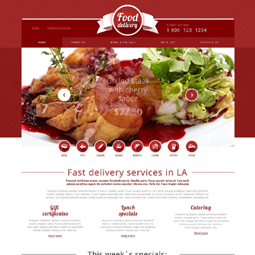 Catering Responsive Website Template #49565