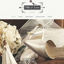 Wedding Album Moto CMS HTML Template