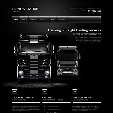 Transportation Moto CMS HTML Template