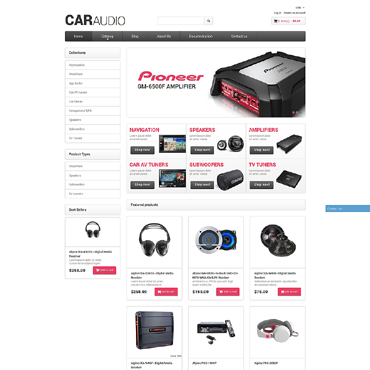 Car Audio Responsive Shopify Theme