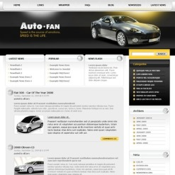 Car Club PSD Template