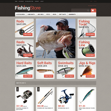 Fishing Responsive Magento Theme