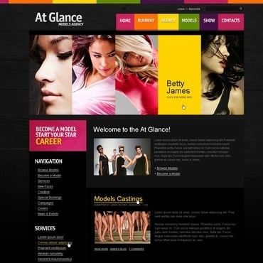 Model Agency PSD Template