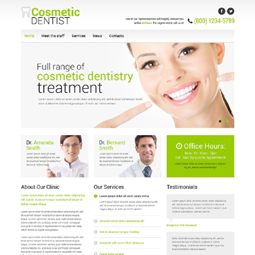 Dentistry Responsive Website Template #50449