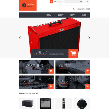 Music Store Responsive OpenCart Template
