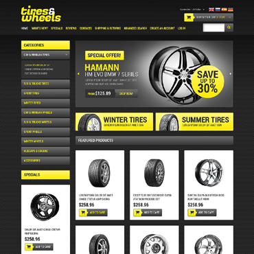 Wheels & Tires OsCommerce Template
