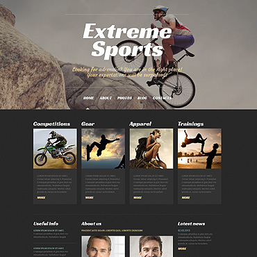 Extreme Sports WordPress Theme