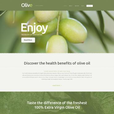 Food Store Responsive Website Template