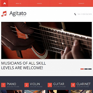 Music School Moto CMS HTML Template