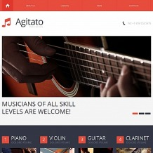 Music School Moto CMS HTML Template