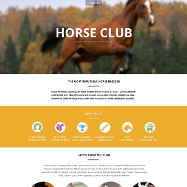 Horse Responsive WordPress Theme