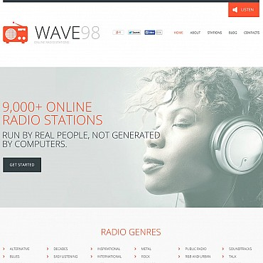 Radio Website Flash CMS Template