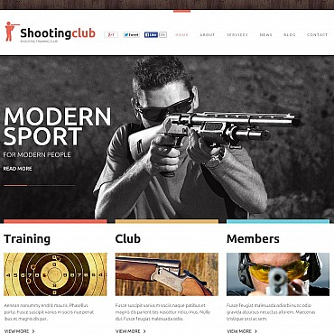 Shooting Flash CMS Template
