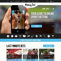 Online Betting Flash CMS Template