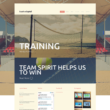 Volleyball Responsive Joomla Template