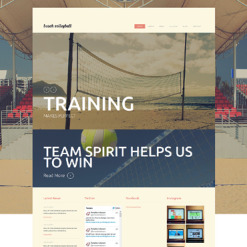Volleyball Responsive Joomla Template