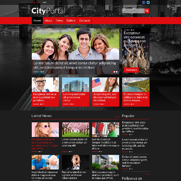 City Portal Responsive Website Template