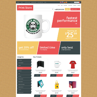 Print Shop OsCommerce Template