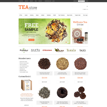 Tea Shop VirtueMart Template