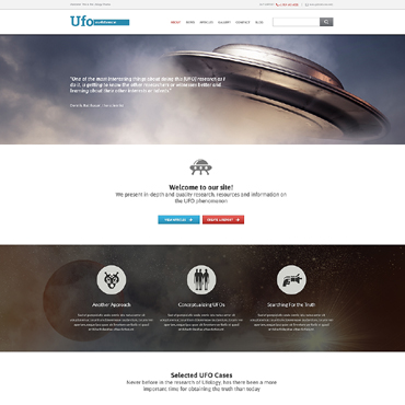 UFO Responsive Website Template