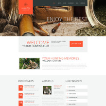 Hunting Responsive WordPress Theme