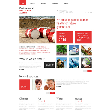 Environmental Responsive Website Template