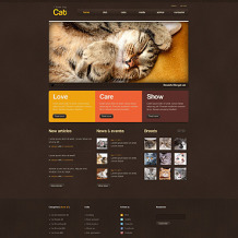 Cat PSD Template