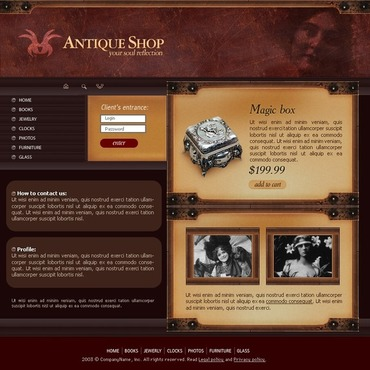 Antique Store Website Template