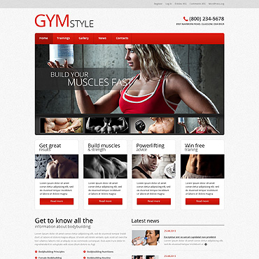 Bodybuilding WordPress Theme