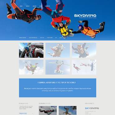 Skydiving WordPress Theme