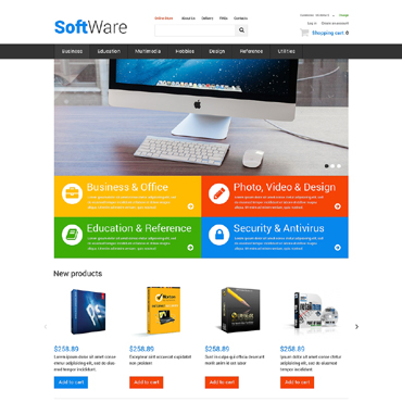 Software Company VirtueMart Template