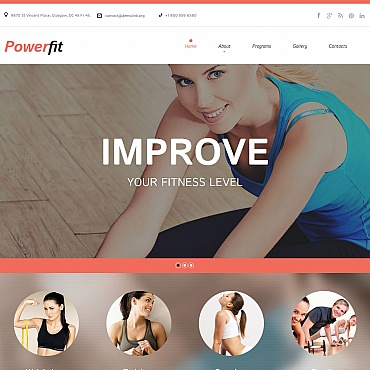 Fitness Moto CMS HTML Template