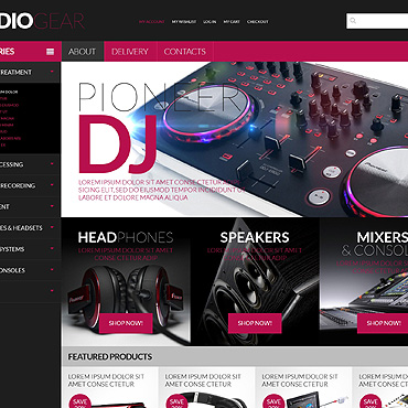 Audio Store PSD Template