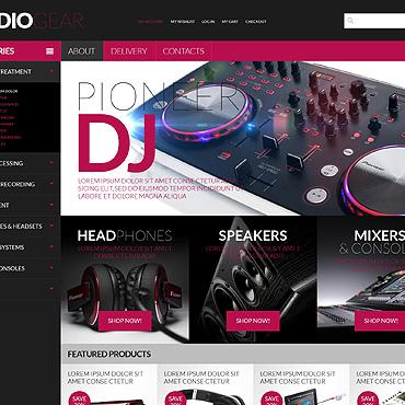 Audio Store PSD Template