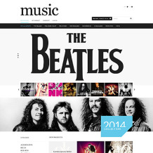 Music Store PSD Template