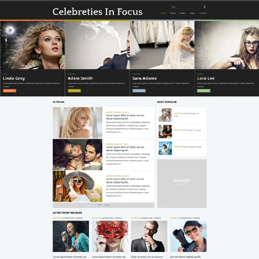 Celebrity Website Responsive Joomla Template