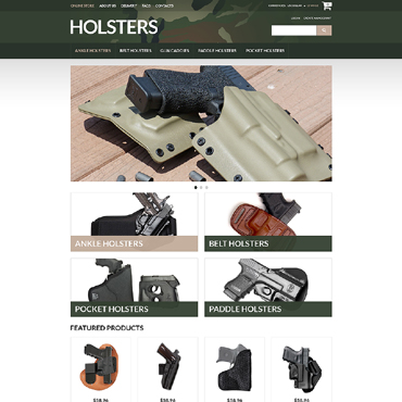 Gun Shop VirtueMart Template