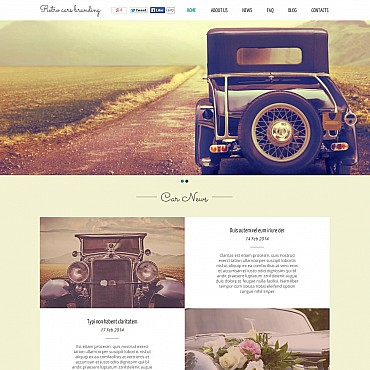 Car Club Flash CMS Template