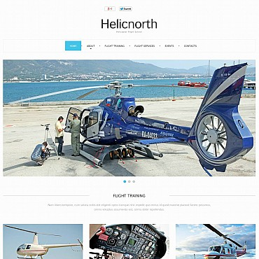 Flight School Flash CMS Template