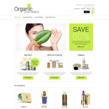 Organic Cosmetics Magento Theme #51289