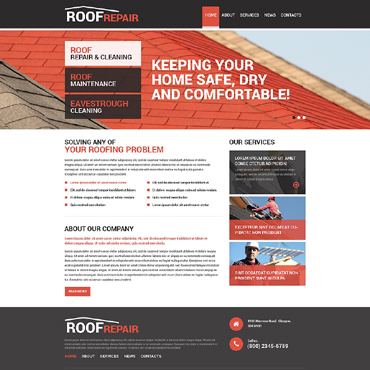 Roofing Company Drupal Template