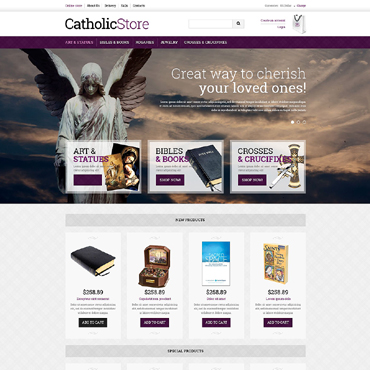 Catholic Church VirtueMart Template