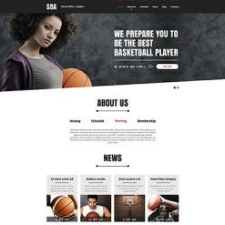 Basketball Responsive Website Template