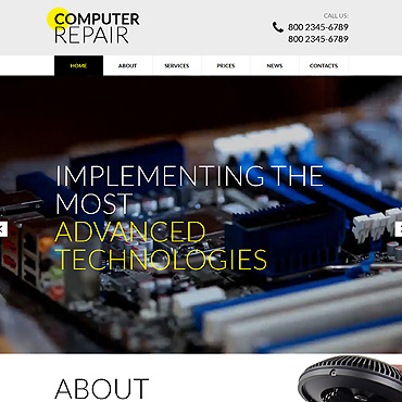 Computer Repair Responsive Website Template #51741